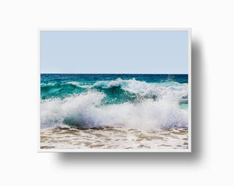 Ocean Surf Print, Ocean Wave Print, Ocean Photography, Wave Art, Sea Wall Art, Ocean Art, Surf Print Art, Blue Wall Art, Ocean Art Print,