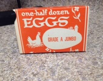 Vintage half dozen egg cartons
