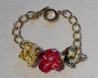 Origami Lotus bracelet