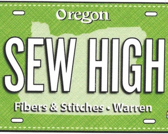 2017 Row by Row Fabric License Plate *SEW HIGH*