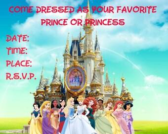 Disney Princess Royal Ball Birthday Invitations