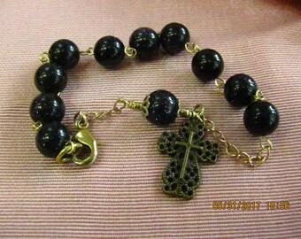 Blue Rosary Bracelrt