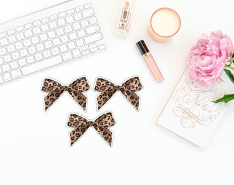 Cheetah Print Bow Die Cuts