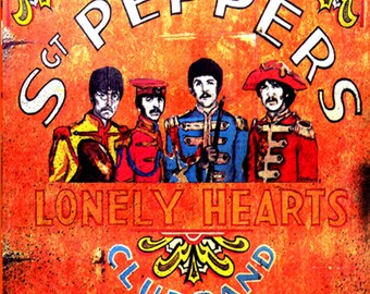 Metal Sign Beatles Sgt Peppers Lonely Hearts Club Band Wall Art
