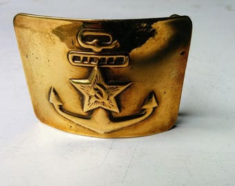 Soviet USSR Brass Military Navy Belt Buckle