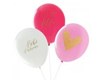 Balloons baby shower girl