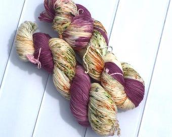 Chaussette II | Vendange | Hand dyed speckled yarn | fingering weight & DK weight yarn