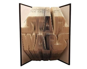 Star Wars Folded Book - Christmas - Birthday -fan - Boyfriend - Girlfriend - Valentines day - Graduation - R2D2 - Geek - father's day -Space