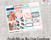 Picnic Floral Mini Weekly kit Erin Condren Happy Planner planner stickers