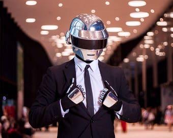 Complete Daft Punk Thomas Look Helmet + Gloves+Anatomic+balaclava *FAN-MADE REPLICA*