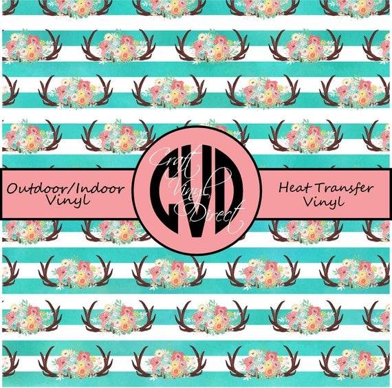 Floral Patterned Vinyl // Patterned / Printed Vinyl // Outdoor and Heat Transfer Vinyl // Pattern 684
