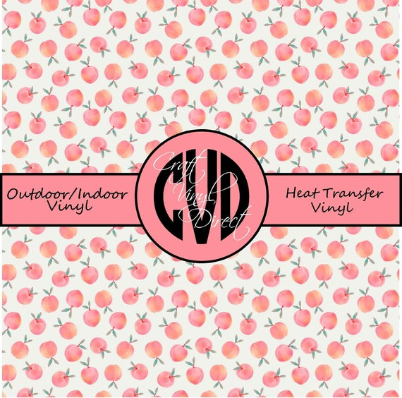 Peach Patterned Vinyl // Patterned / Printed Vinyl // Outdoor and Heat Transfer Vinyl // Pattern 736