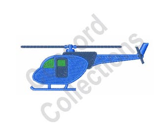 Helicopter - Machine Embroidery Design