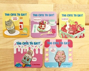 Too Cute To Eat Hard Enamel Pin Collection - Series 3
