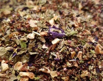 Fairies in Wonderland - Blue Tea, Organic, Flowers, Loose Leaf Tea, Peppermint, Rooibos, Heather, Floral Tea