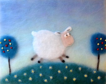 Sheep Baby Shower, Sheep Painting, Sheep Nursery Decor, Sheep Wall Art, Sheep Art, Sheep Gift, Wall Art Children, Animal Nursey Decor, Sheep