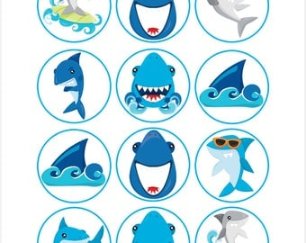 recipe: shark cupcake topper [26]