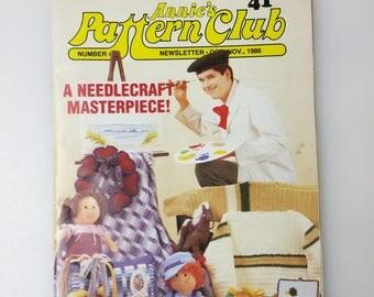 Annies Pattern Club Magazine 41 Oct Nov 1986 Amigurumi Dolls Dog Sewing Crochet