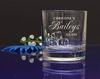 Personalised engraved Baileys glass/mum's, nan's, Birthday, Christmas present, gift 63