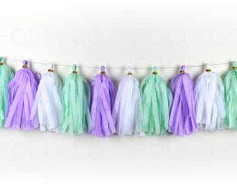 MERMAID'S TAIL Tassel Garland | Party Garland | Baby Shower Garland | Gender Reveal Garland | Nursery Garland | Bachelorette Garland | 15