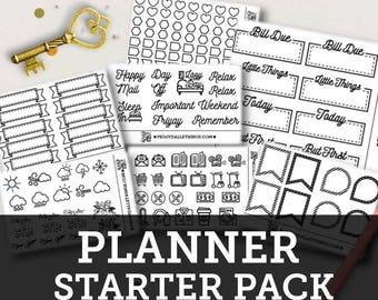 Planner Stickers Starter Pack - Bullet Journal Stickers
