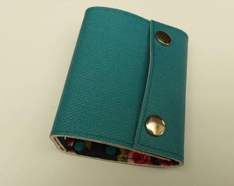 Recycled - Card holder recycled rigid linoleum blue (n 59)