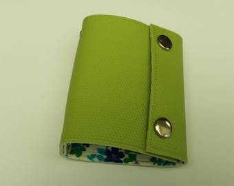 Recycled - Card holder recycled rigid linoleum green (n-61)