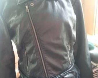 Vegan Pleather Women's Motorcycle Jacket!