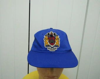 Rare Vintage WIGAN RUGBY LEAGUE Patched Cap Hat Free size fit all