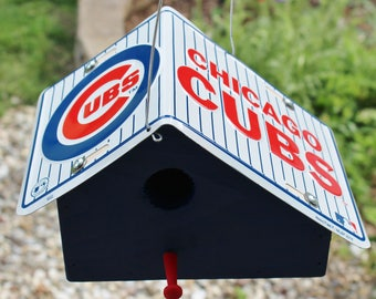 Chicago Cubs License Plate Birdhouse