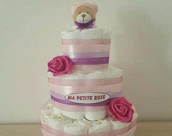 Great for girl diaper cake