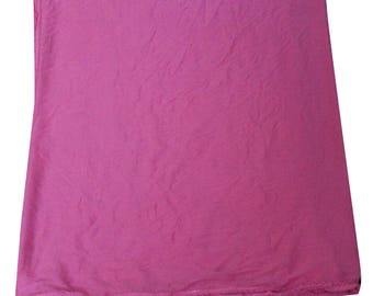 Vintage Fabric Dupatta Indian Craft Fabric Solid Curtain Drape Hijab Veil Chiffon Craft Fabric Decor Fabric Crafted Material Pink Scarf Wrap