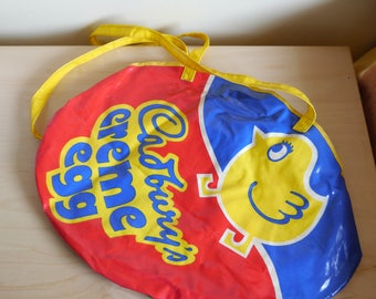Fabulous rare Cadburys Cream Egg handbag, beach bag or shopping shoulder bag, 1980's