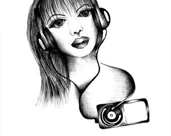 A4 Poster Art - Musica