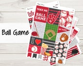 Your Team Colors! Ball Game Weekly Kit | Baseball | Planner Stickers