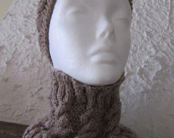 Beige Headband and Snood
