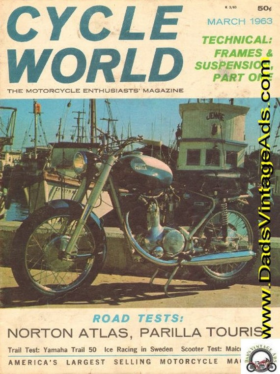 1963 March Cycle World Motorcycle Magazine Back-Issue #6303cw