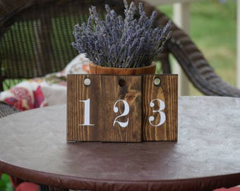 Rustic Wedding Table Numbers, Hanging Table Numbers, Rustic Wedding Decor, Square Numbers, Spring Wedding, Summer Wedding, Wedding Tables
