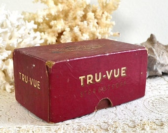 vintage empty tru-vue box small collectible box