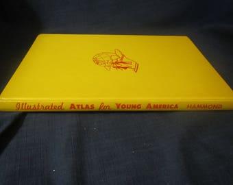 1956 * Hammonds Illustrated Atlas for Young America ** C S Hammond & CO **sj