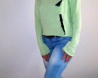 Handmade Loose knitted sweater Knit sweaterr tank Knitwear fashion for women Fashion knitted sweater Bohemian loose sweater