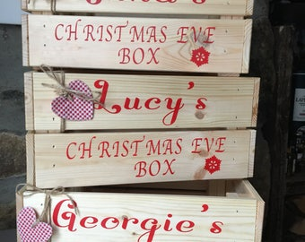 Personalised Christmas Eve Box - Rustic Christmas Eve Box - Christmas Eve Crate - Personalised Crate - Rustic Christmas