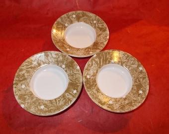 "Round porcelain cups trio ""Star"""
