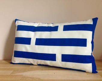 Cushion cover 50 x 30 cm - Blue and white chart