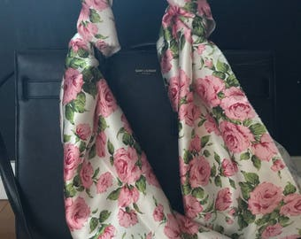 Limited Edition! Liberty of London Silk Pink Rose Twilly- XS-XL Bag Purse Handle Wrap!
