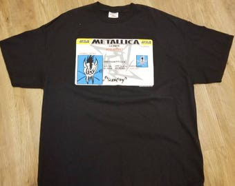 2XL metallica shirt, metallica tee double sided