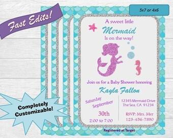 Mermaid Babyshower Invite!