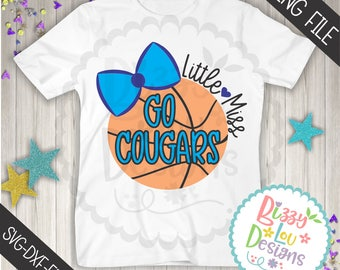 Cougars Basketball SVG DXF EPS png jpeg basketball svg little miss svg little miss basketball cutting file basketball sister cougars svg