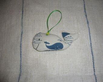 Lavender Filled Hanging Whale Decoration