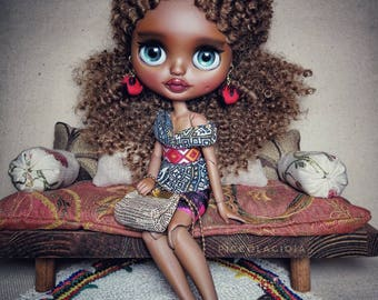 On lay away.. Reserve Please do not buy... Ooak factory blythe doll Moo'nique